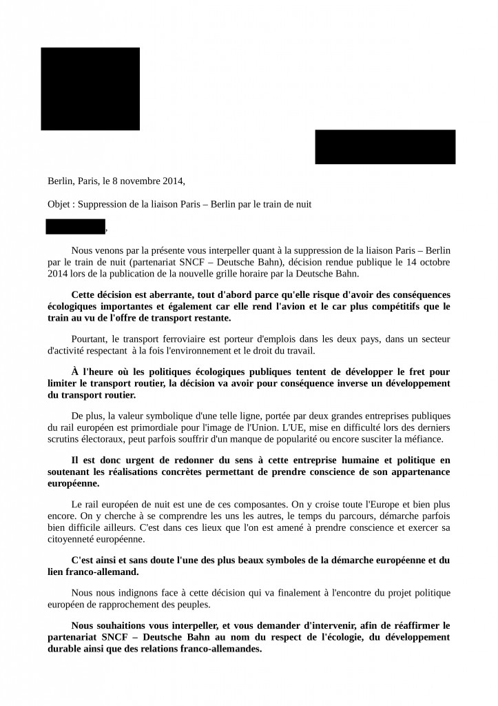 Courrier accompagnement Parlement EU modele page1